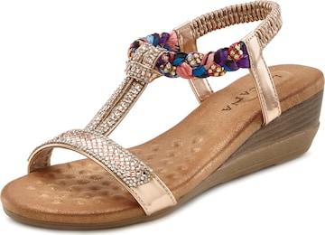 LASCANA LASCANA Sandalette in Mischfarben