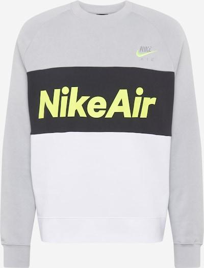 Nike Sportswear Sweatshirt in de kleur Neongeel / Grijs / Zwart, Productweergave