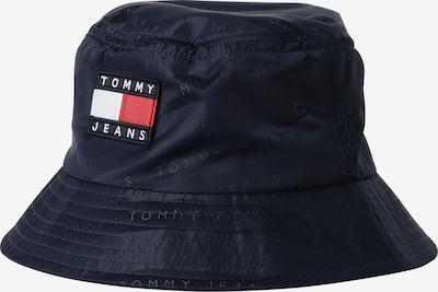Tommy Jeans Шапка с периферия в нейви синьо / червено / бяло, Преглед на продукта