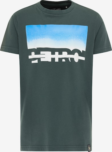Petrol Industries T-Shirt en aqua / sapin / blanc, Vue avec produit