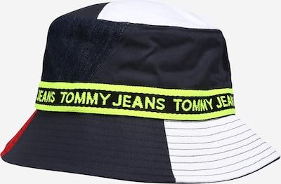 Tommy Jeans Шапка с периферия в нейви синьо / жълто / червено / бяло, Преглед на продукта