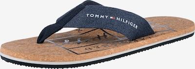 Flip-flops TOMMY HILFIGER pe bleumarin / albastru noapte / roșu deschis / alb, Vizualizare produs