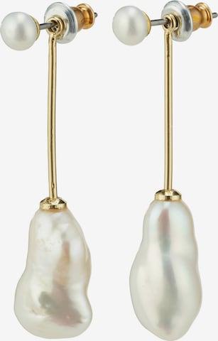 Cercei de la Pilgrim pe alb