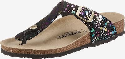 BIRKENSTOCK Sandale 'Gizeh' u miks boja / crna, Pregled proizvoda