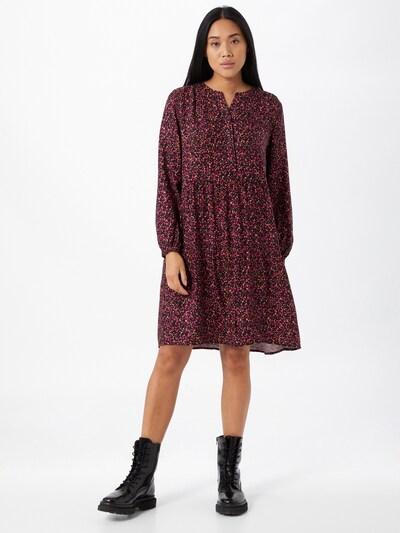 STREET ONE Kleid in pastellorange / dunkelpink / schwarz, Modelansicht