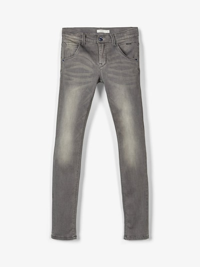 NAME IT Jeans 'NITCLAS' in grey denim: Frontalansicht
