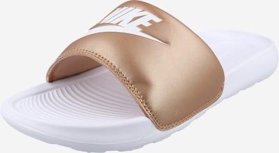 Nike Sportswear Muiltjes 'Victori One' in de kleur Brons / Wit, Productweergave