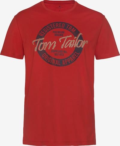 TOM TAILOR T-Shirt in beige / marine / rot, Produktansicht