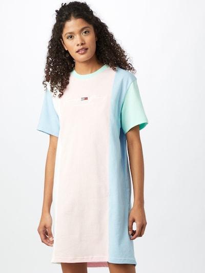Rochie Tommy Jeans pe albastru deschis / mentă / roz / alb, Vizualizare model