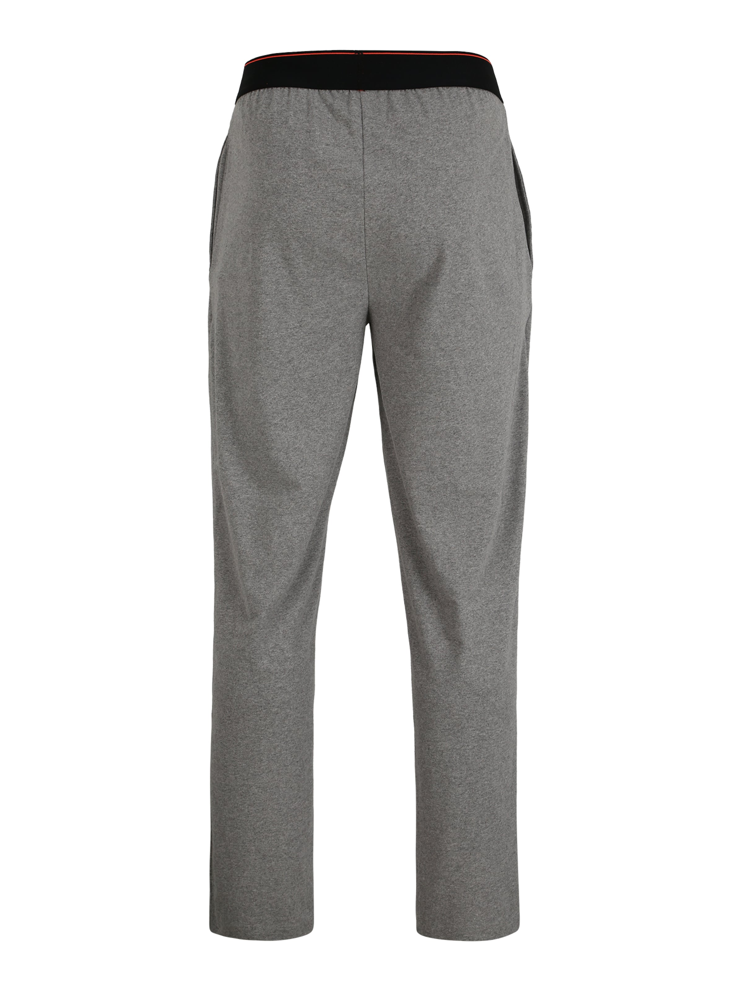 Superdry Hose 'LAUNDRY' in graumeliert / rot / schwarz Jersey SUP2829001000001