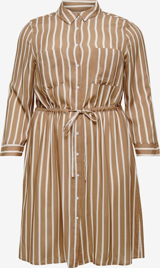 ONLY Carmakoma Robe-chemise 'Pin' en brocart / blanc, Vue avec produit