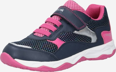 GEOX Kids Sneaker 'CALCO' in navy / pink / weiß, Produktansicht