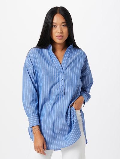 ZABAIONE Bluza 'Bianca' u svijetloplava / bijela, Prikaz modela