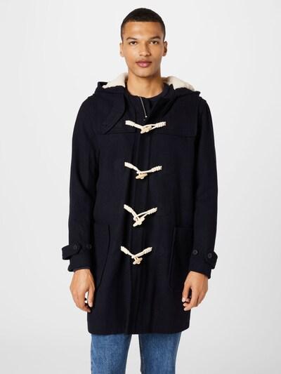 SELECTED HOMME Manteau d'hiver en indigo / blanc cassé, Vue avec modèle