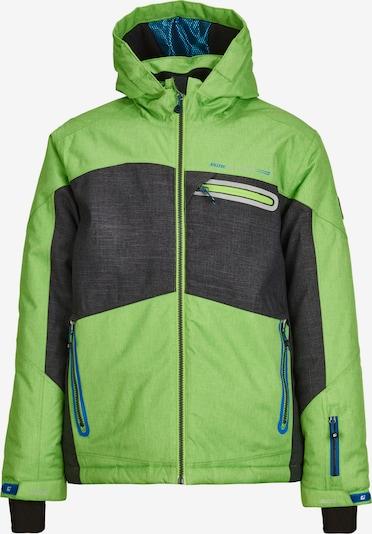 KILLTEC Zunanja jakna 'Malcom' | antracit / svetlo zelena barva, Prikaz izdelka