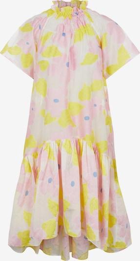 Y.A.S Kleid 'Viola' in hellblau / gelb / rosa / weiß, Produktansicht