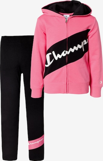 Champion Authentic Athletic Apparel Jogginganzug in hellpink / feuerrot / schwarz / weiß, Produktansicht