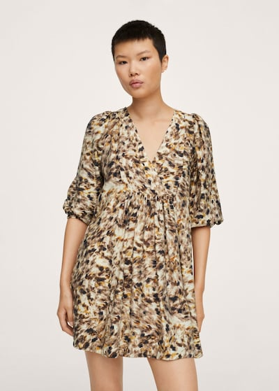 Rochie de vară 'carnaby' MANGO pe maro, Vizualizare model