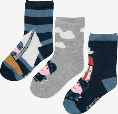 NAME IT Sockor 'Peppapig Keny' i nattblå / duvblå / gråmelerad / blandade färger / rosa, Produktvy