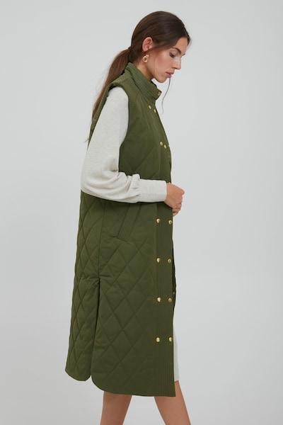 ICHI Bodywarmer 'IHANNIE WA' in de kleur Groen / Kaki, Modelweergave