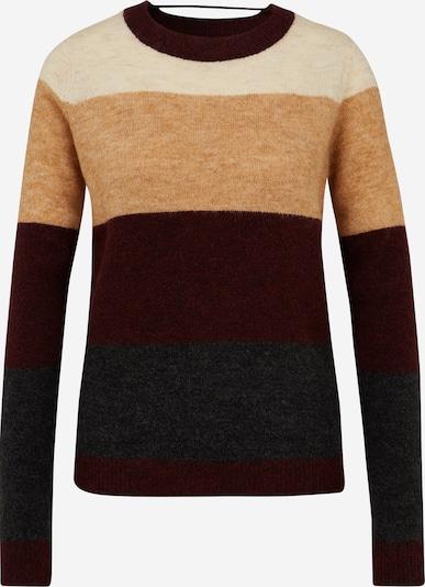 Vero Moda Tall Pullover 'PLAZA' in beige / hellbeige / dunkelgrau / weinrot, Produktansicht