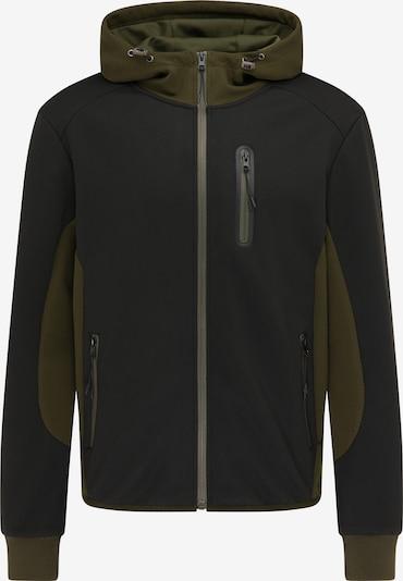 Giacca di felpa Mo SPORTS di colore oliva / nero, Visualizzazione prodotti