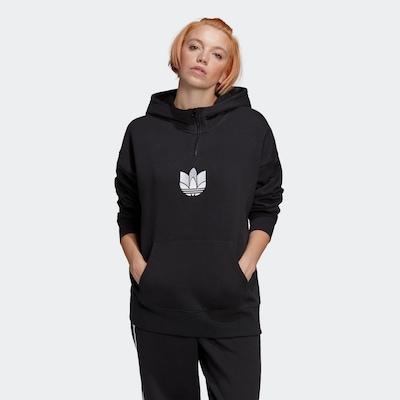 ADIDAS ORIGINALS Sweatshirt in schwarz / weiß: Frontalansicht