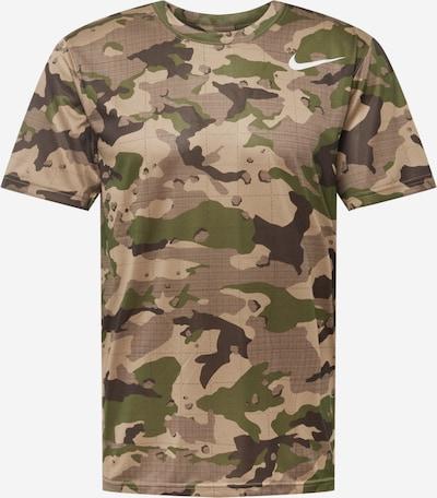 NIKE Funkčné tričko - sépiová / kaki / trstinová / biela, Produkt