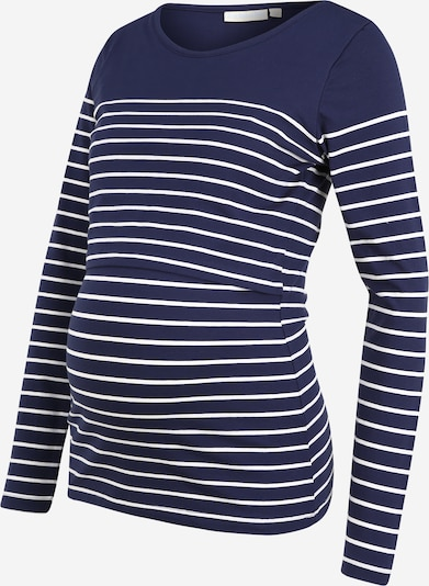 Tricou 'Breton' JoJo Maman Bébé pe bleumarin / alb, Vizualizare produs