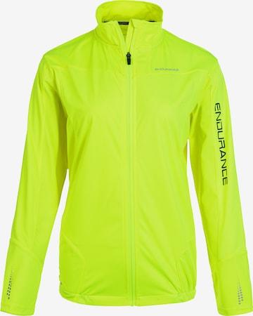 ENDURANCE Athletic Jacket 'ZIVA W' in Yellow