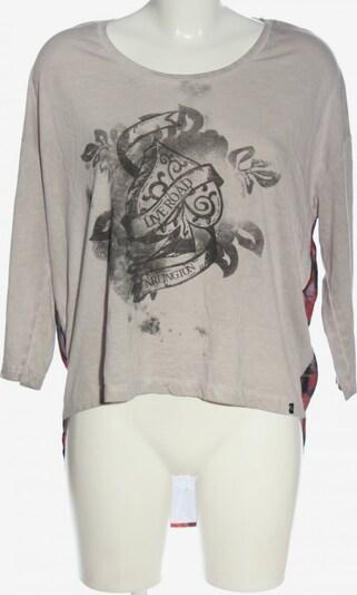 Key Largo Schlupf-Bluse in M in hellgrau / rot / schwarz, Produktansicht