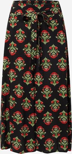 Pantaloni Blutsgeschwister pe verde iarbă / roșu / negru, Vizualizare produs