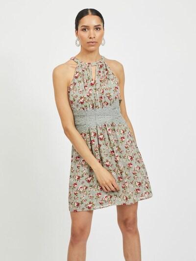 VILA Kleid in oliv / mint / rot / weiß, Modelansicht