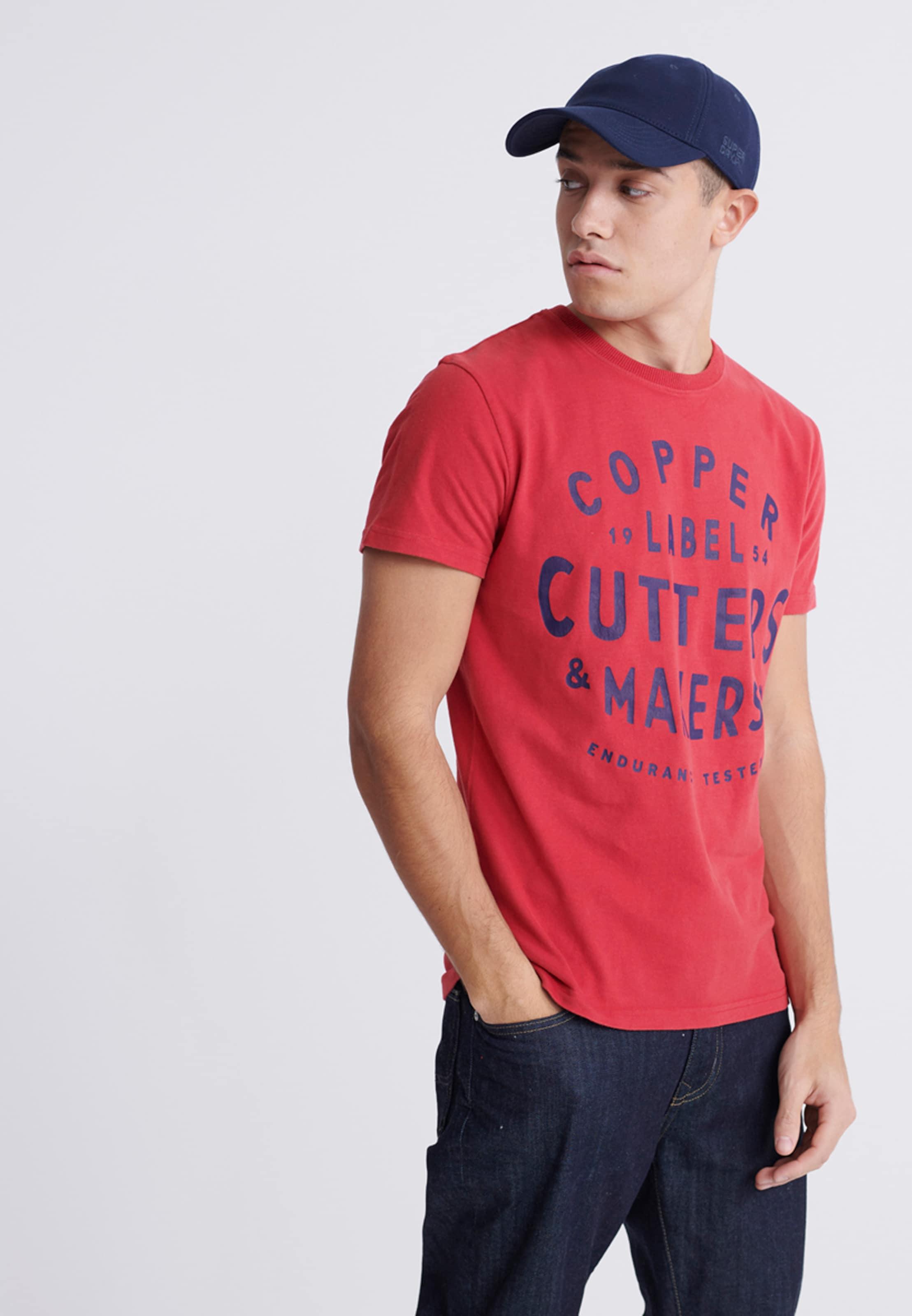 Superdry Shirt in blau / rot Logoprint 1040405502173XSJ006