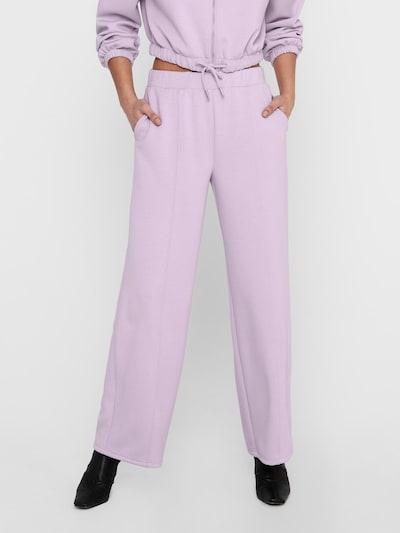 ONLY Pantalon 'Scarlett' en violet, Vue avec modèle