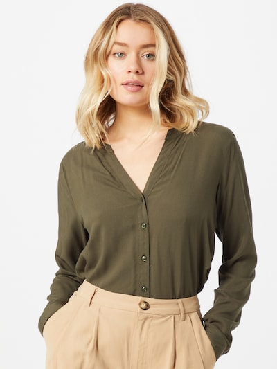 ONLY Bluse 'Happi' in khaki, Modelansicht