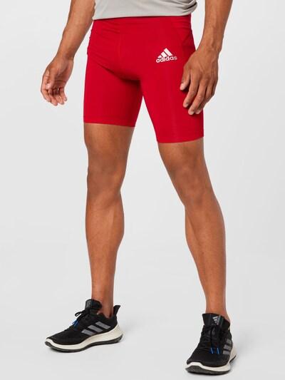 ADIDAS PERFORMANCE Športové nohavice - vínovo červená / biela, Model/-ka