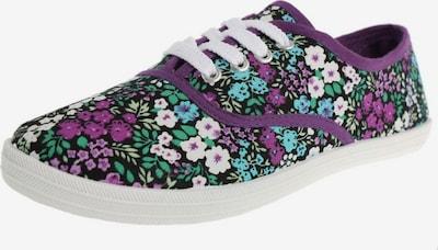 MYMO Baskets basses en violet / mélange de couleurs, Vue avec produit