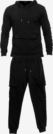 Tom Barron Jogginganzug in schwarz, Produktansicht