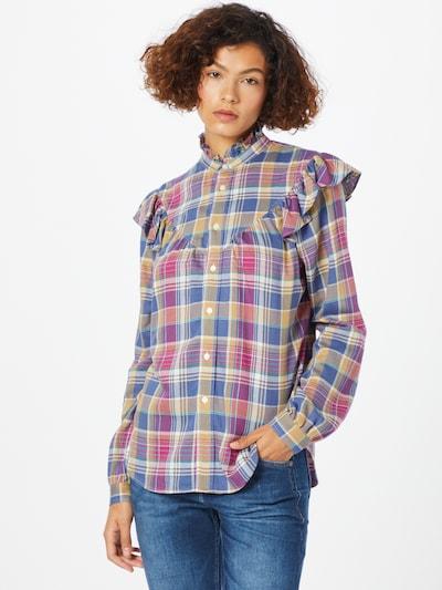 Polo Ralph Lauren Bluse u plava / tamo žuta / roza, Prikaz modela