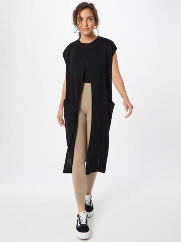 JDY Knitted Coat 'JULIUS' in Black