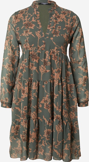 ZABAIONE Robe 'Aurelia' en marron / vert, Vue avec produit