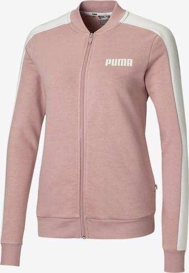 PUMA Contrast Damen Sweatjacke in pastellpink / weiß, Produktansicht