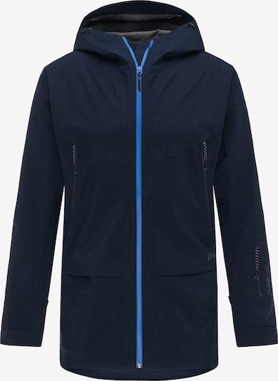 PYUA Veste outdoor 'Vertical' en bleu, Vue avec produit