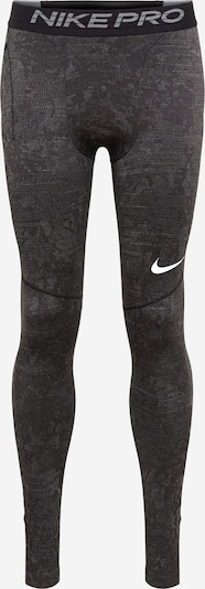 NIKE Pantalon de sport en gris foncé / blanc, Vue avec produit