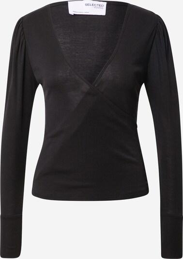 SELECTED FEMME Shirt 'HOPE' in schwarz, Produktansicht