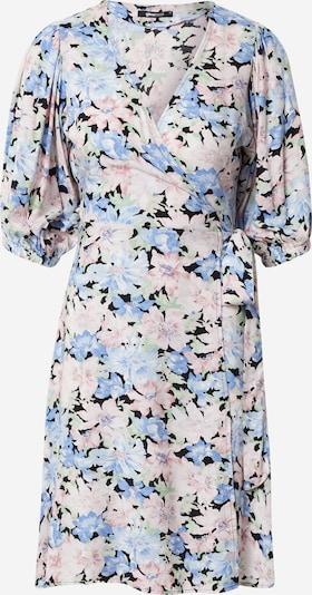 Gina Tricot Robe 'Dita' en bleu clair / vert pastel / rose clair / noir, Vue avec produit
