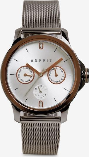 ESPRIT Analoog horloge in de kleur Bruin / Zilvergrijs / Wit, Productweergave