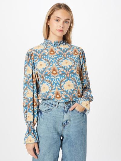 Rich & Royal Bluse in blau / mischfarben, Modelansicht