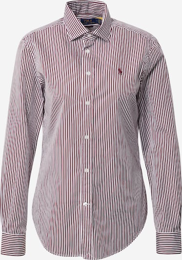 Polo Ralph Lauren Blouse 'Georgia' in Wine red / White, Item view